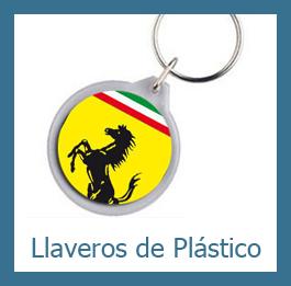 llaveros plástico personalizados